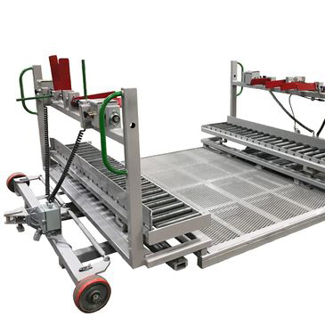Steel movable cart that has a opening to hold products in